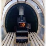 мобильная баня внутри и печь фото