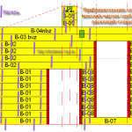 Схема монтажа нагеля в раскладке стены