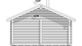 Фасад бани — проект из сруба 6*5