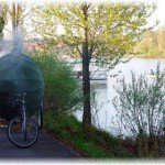 Баня мобильная на велосипеде. Фото
