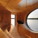 Необычная сауна на озере Гурон