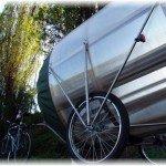 баня на колесной велотележке
